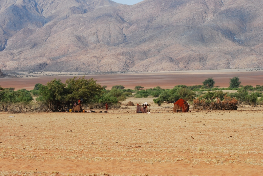 Marienfluss Valley, villaggio Himba